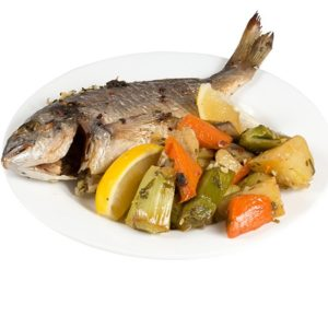 Dorada with vegetables 450g
