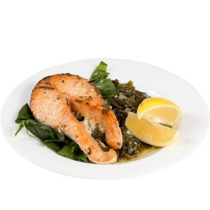 Somon with spinach 400g