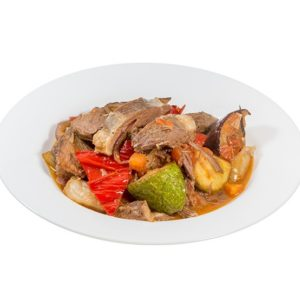 Lamb with vegetables in the oven 350 g