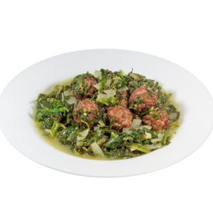 Spinach with beef 350g