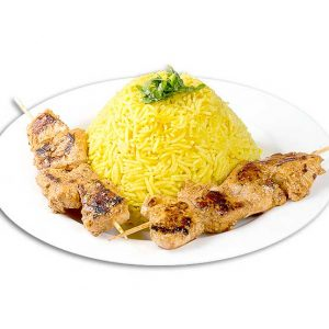Rice sausage with chicken skewer – 400g
