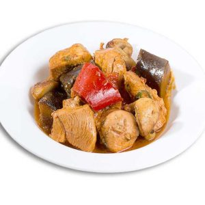 Chicken With Eggplants and Mushroom 350G